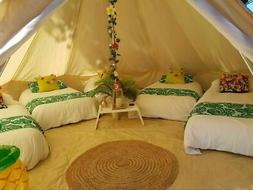 Single Door 6M Large Cotton Canvas Bell Tent Glamping Britis