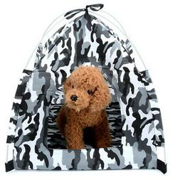 Small Pet Dog Tent Camouflage Portable Foldable for Camping