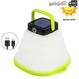 Solar Portable Led Camping Lantern Lights Outdoor for Hiking