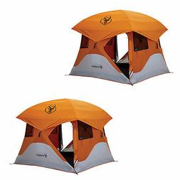 "Gazelle T4 94""x94"" 4 Person Pop Up Camping Hub Tent w/ Remov"