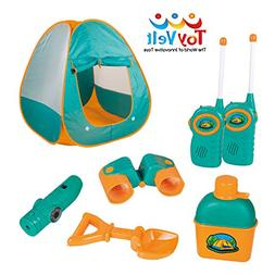 12 Piece Kids Tent Camping Set – Includes Big Tent, Telesc