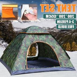 Tent Waterproof 3-4 Person Automatic Instant Pop Up Outdoor