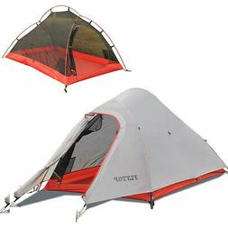 Ultralight Double Layer Camping Tent 4 Season 1 2 Person Bac