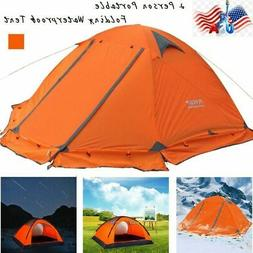 US 2 Person Double Layer Waterproof 4 Season Camping Hiking