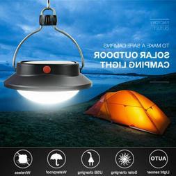 USB Portable Camping Light Solar Lantern Hanging Lamp Hook T