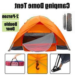Waterproof 2 People Double Door Camping Hiking Sleeping Dome