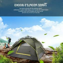waterproof 3 person camping tent automatic folding