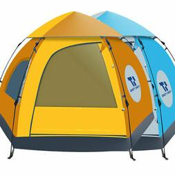 Waterproof 5-6 People Automatic Instant Pop Up Tent UV Proof
