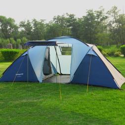 Waterproof 6 Person 3 Season 2+1 Large Room Tent Outdoor Fam