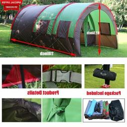 Waterproof 8-10 Person Double Layer Tunnel Family Outdoor Ca
