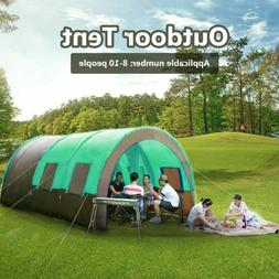 Waterproof 8-10 Person Double Layer Tunnel Outdoor Camping L