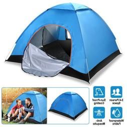 Waterproof 4 People Instant Pop Up Tent Family Camping Hikin