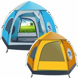 Waterproof Outdoor Tent 5 Person 4 Season Camping Folding Ul