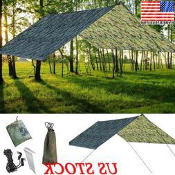Waterproof Tent Tarp Rain Sun Shade Hammock Shelter Camping