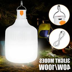 40/100W LED Camping Light USB Rechargeable Outdoor Tent Lamp